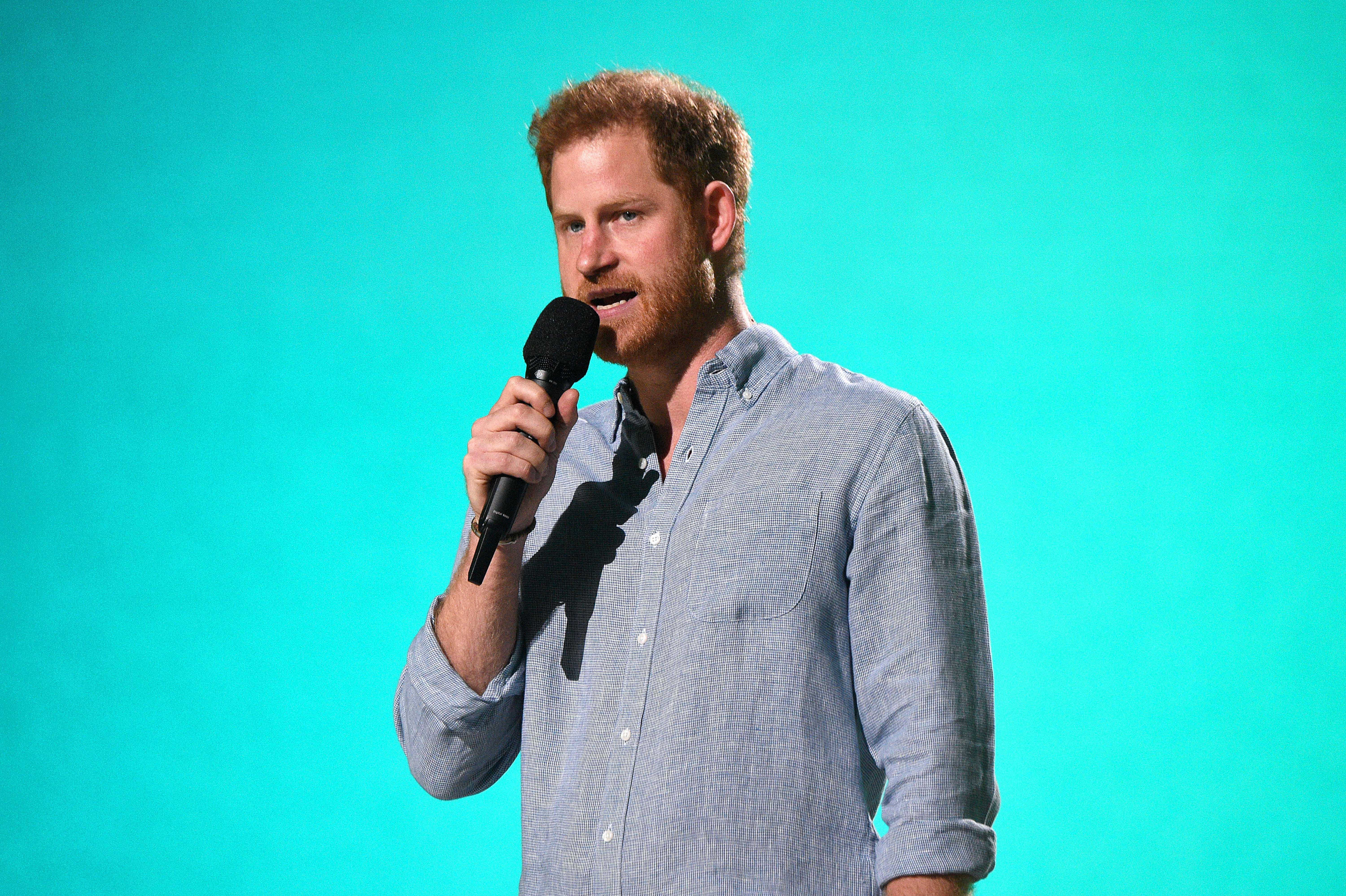 Prince Harry, The Duke of Sussex speaks onstage at SoFi Stadium in Inglewood, California, released on May 2 | Photo: Getty Images