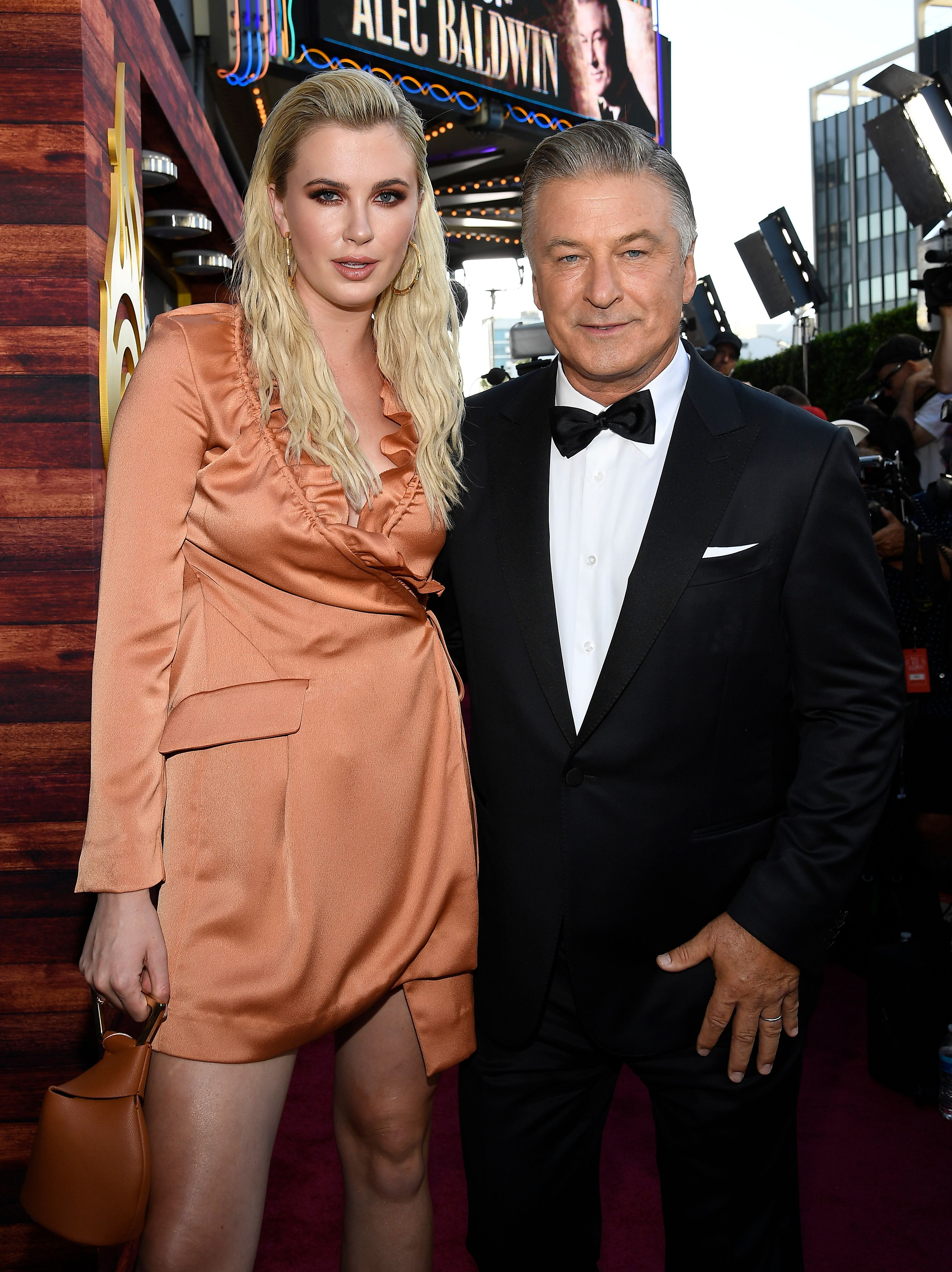 Alec and Ireland Baldwin at the Comedy Central Roast of Alec Baldwin in 2019 in Beverly Hills, California   Source: Getty Images