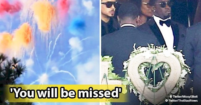 Missy Elliott shares video of the colorful fireworks from Kim Porter's elaborate graveside service