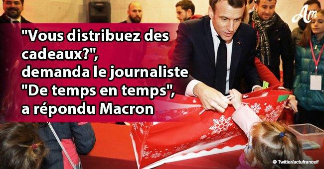 """Noël de l'Elysée: Emmanuel Macron fait allusion à des """"gilets jaunes"""" répondant à la question"""