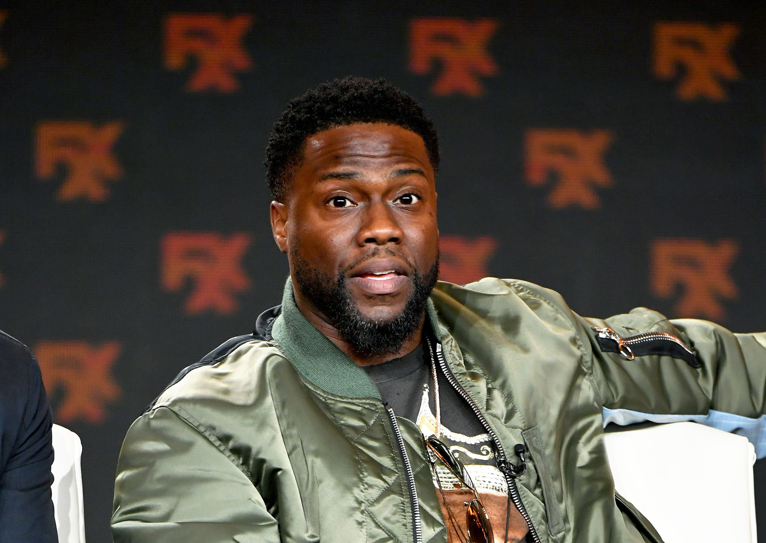 Kevin Hart speaks during the FX segment of the 2020 Winter TCA Tour at The Langham Huntington, Pasadena on January 09, 2020 in Pasadena, California. | Source: Getty Images