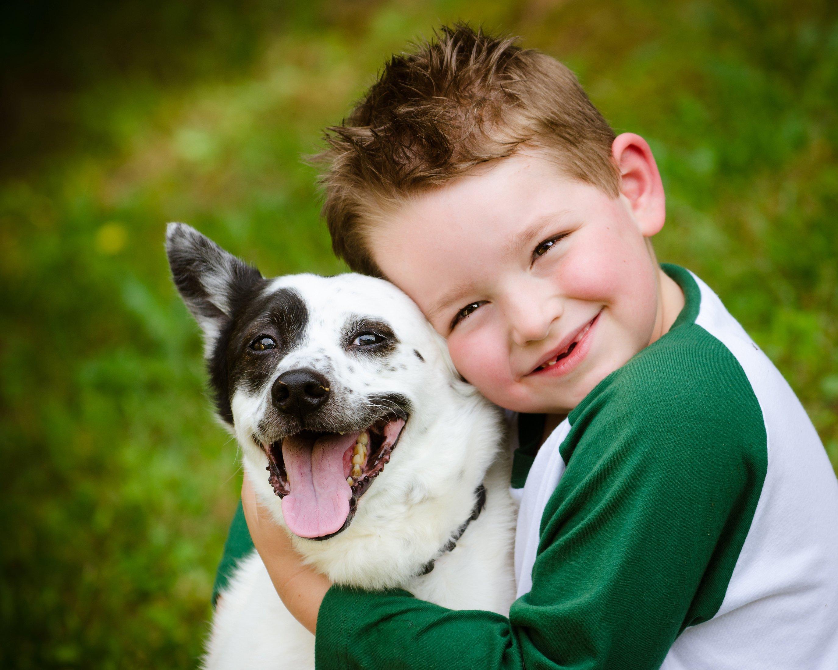 Niño con su perro || Fuente: Shutterstock