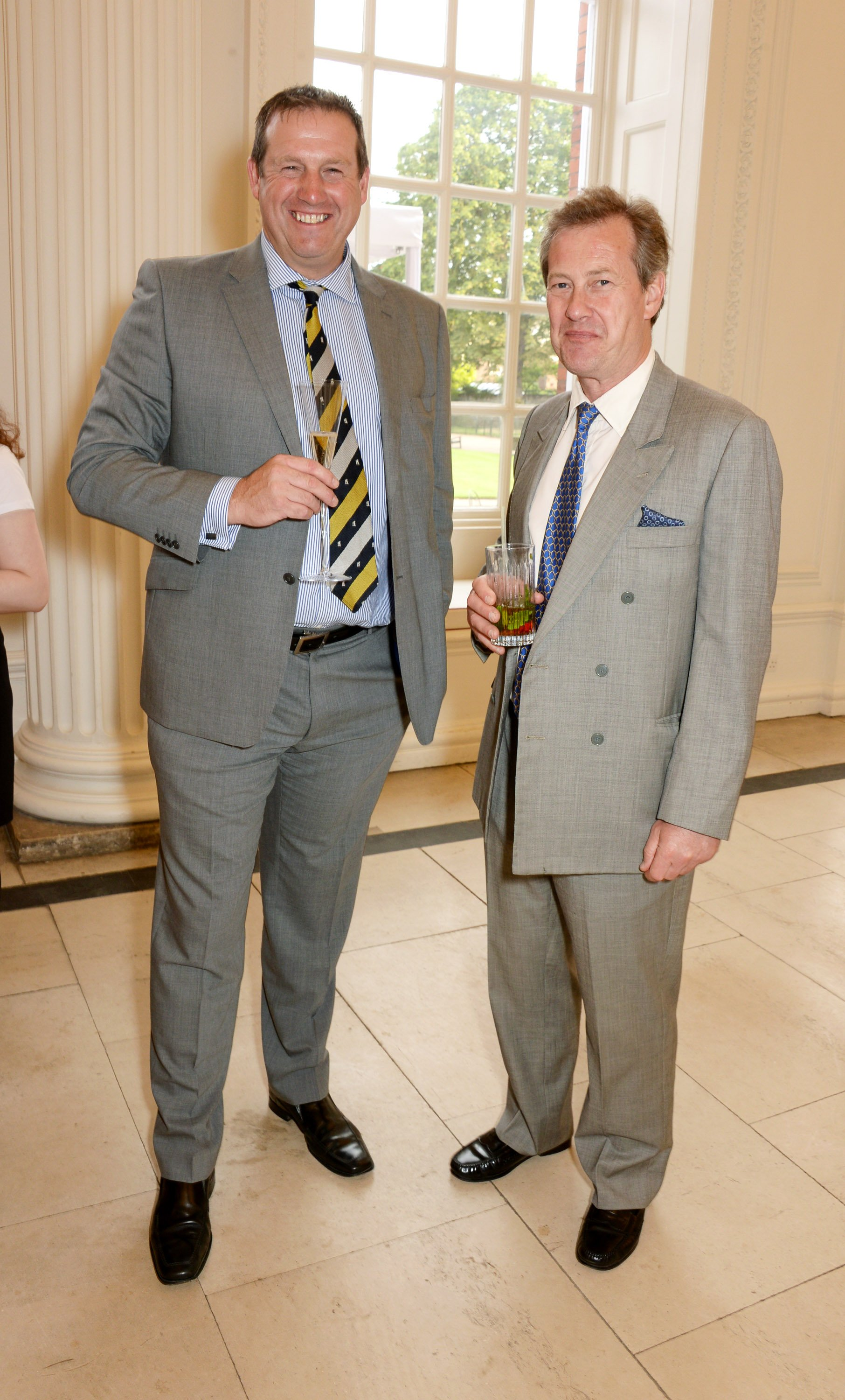Tim Munton and Lord Ivar Mountbatten at Kensington Palace on the eve of 'Dockers Flannels For Heroes' cricket match on June 19, 2014 | Photo: GettyImages
