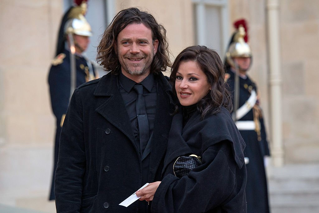 Tina Arena et son mari Vincent le 26 avril 2016 à Paris. l Source : Getty Images