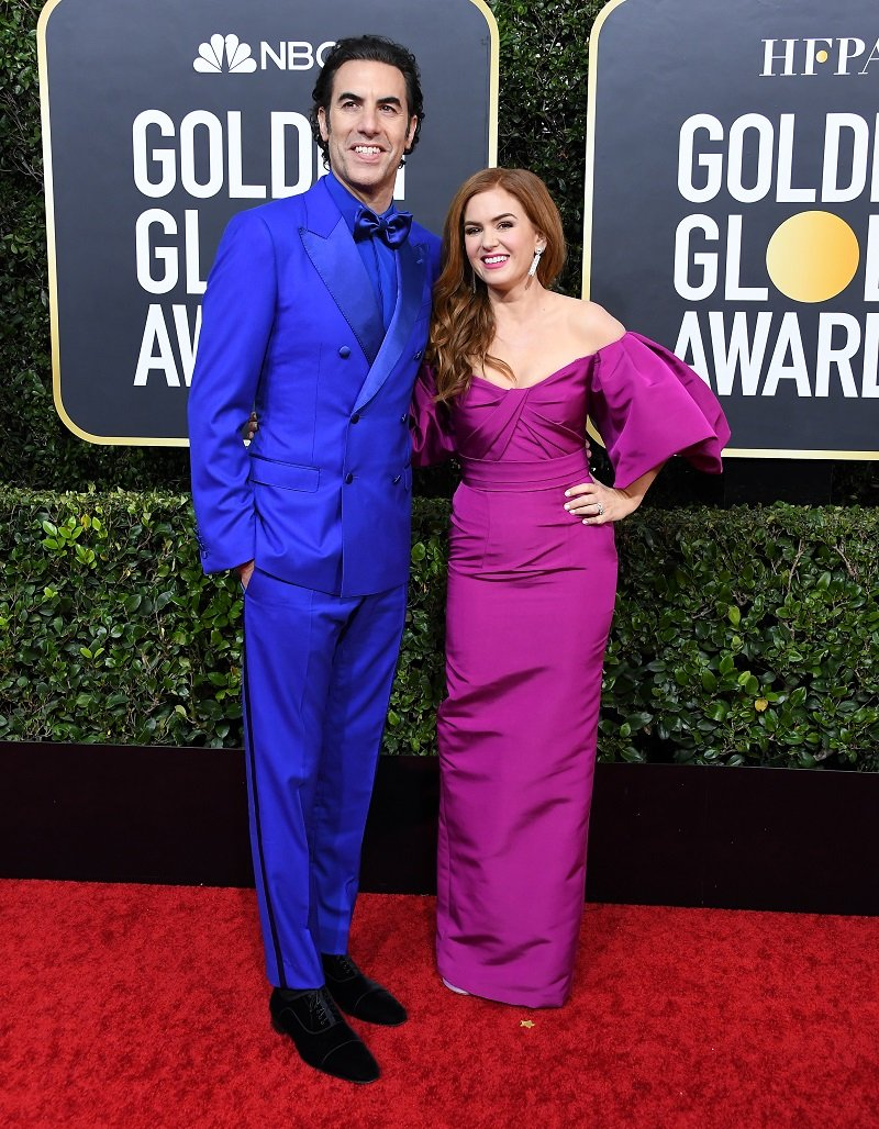 Sacha Baron Cohen and Isla Fisher on January 05, 2020 in Beverly Hills, California | Photo: Getty Images