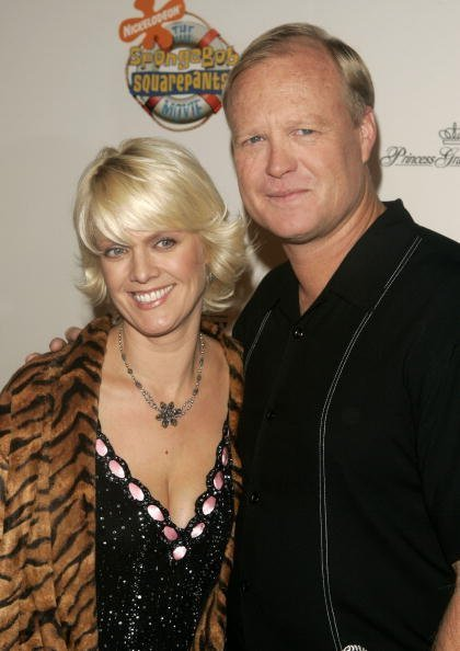 "Bill Fagerbakke and Catherine McClenahan attended the premiere of ""Spongebob Squarepants - The Movie"" on November 17, 2004 in New York City. 