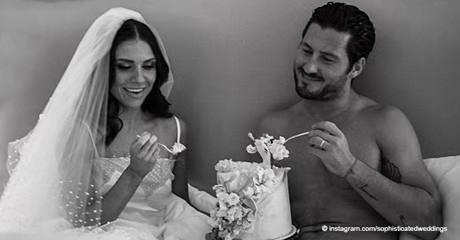 Jenna Johnson Wears Her Wedding Dress to Feed Val Chmerkovskiy in New Photos