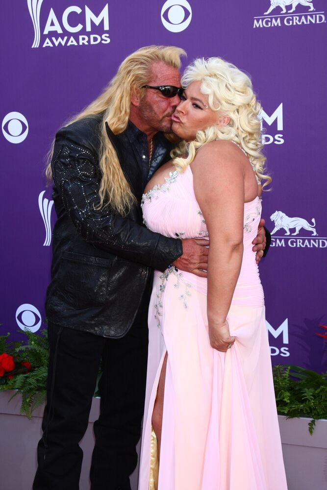 """Duane """"Dog"""" Chapman, Beth Chapman arrives at the 2013 Academy of Country Music Awards at the MGM Grand Garden Arena 