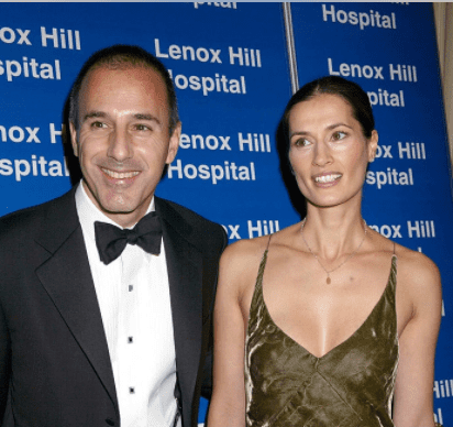 Matt Lauer, Annette Roque Lauer during Bette Midler Receives the Medal of Distinction by Lenox Hill Hospital at 2002 Autumn Ball at Waldorf Astoria in New York, New York, United States. | Source: Getty Images