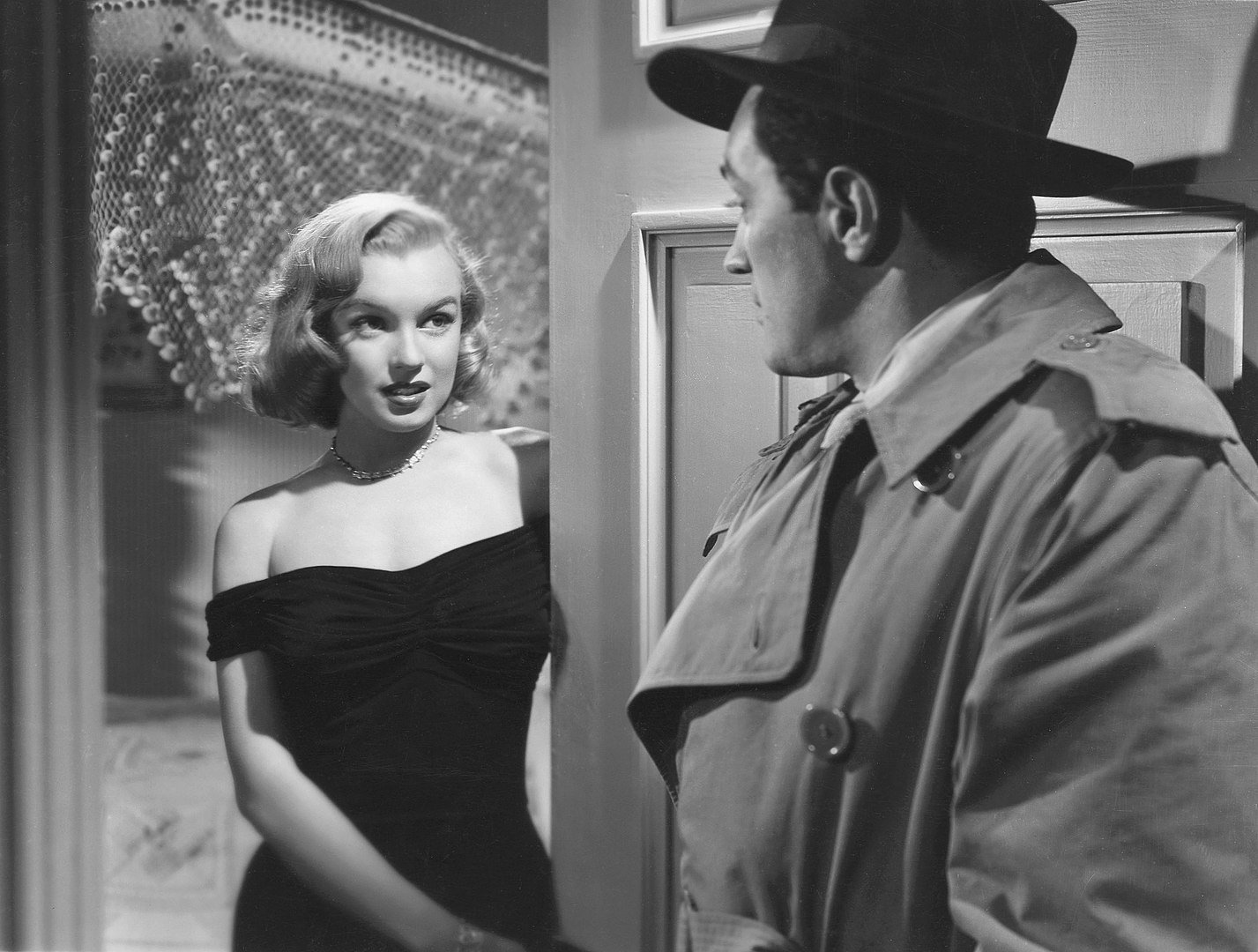 "Monroe as gangster's moll Angela in John Huston's ""The Asphalt Jungle,"" 1950 