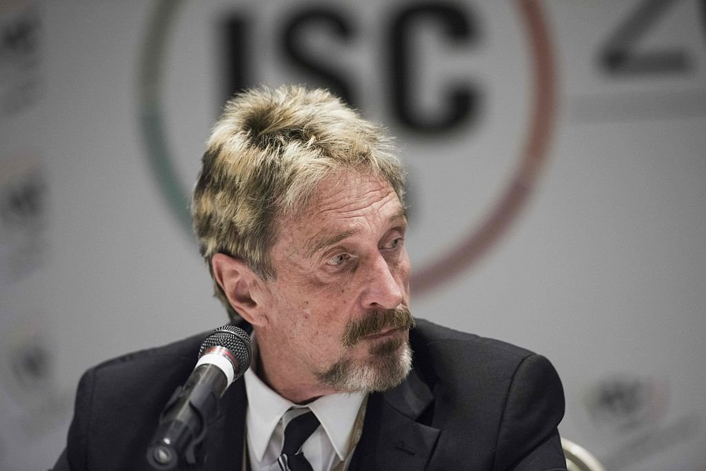 John McAfee in Beijing on August 16, 2016 | Photo: Getty Images