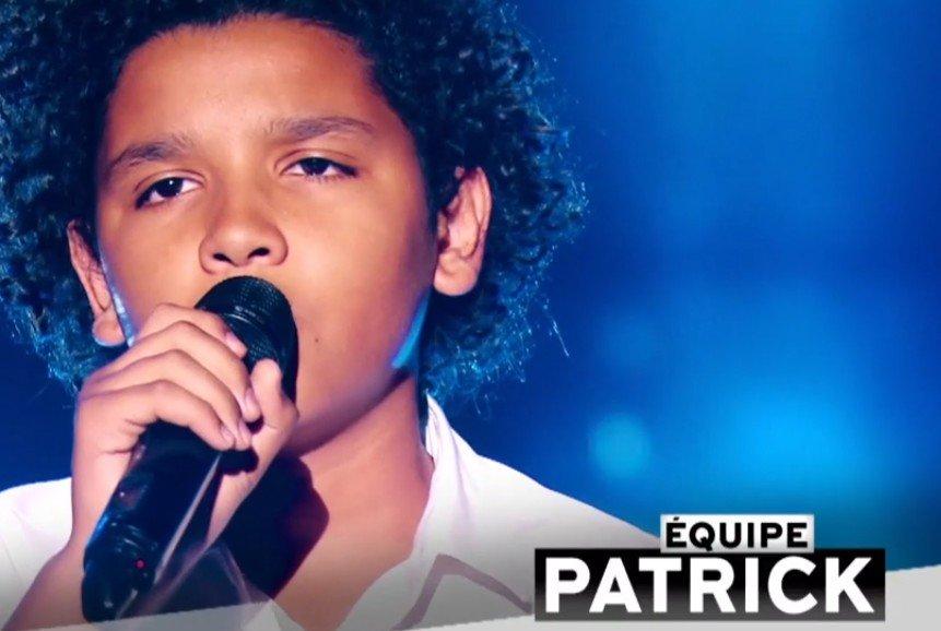 Ghali qui a rejoint l'équipe de Patrick Fiori. l Source : TF1 Replay