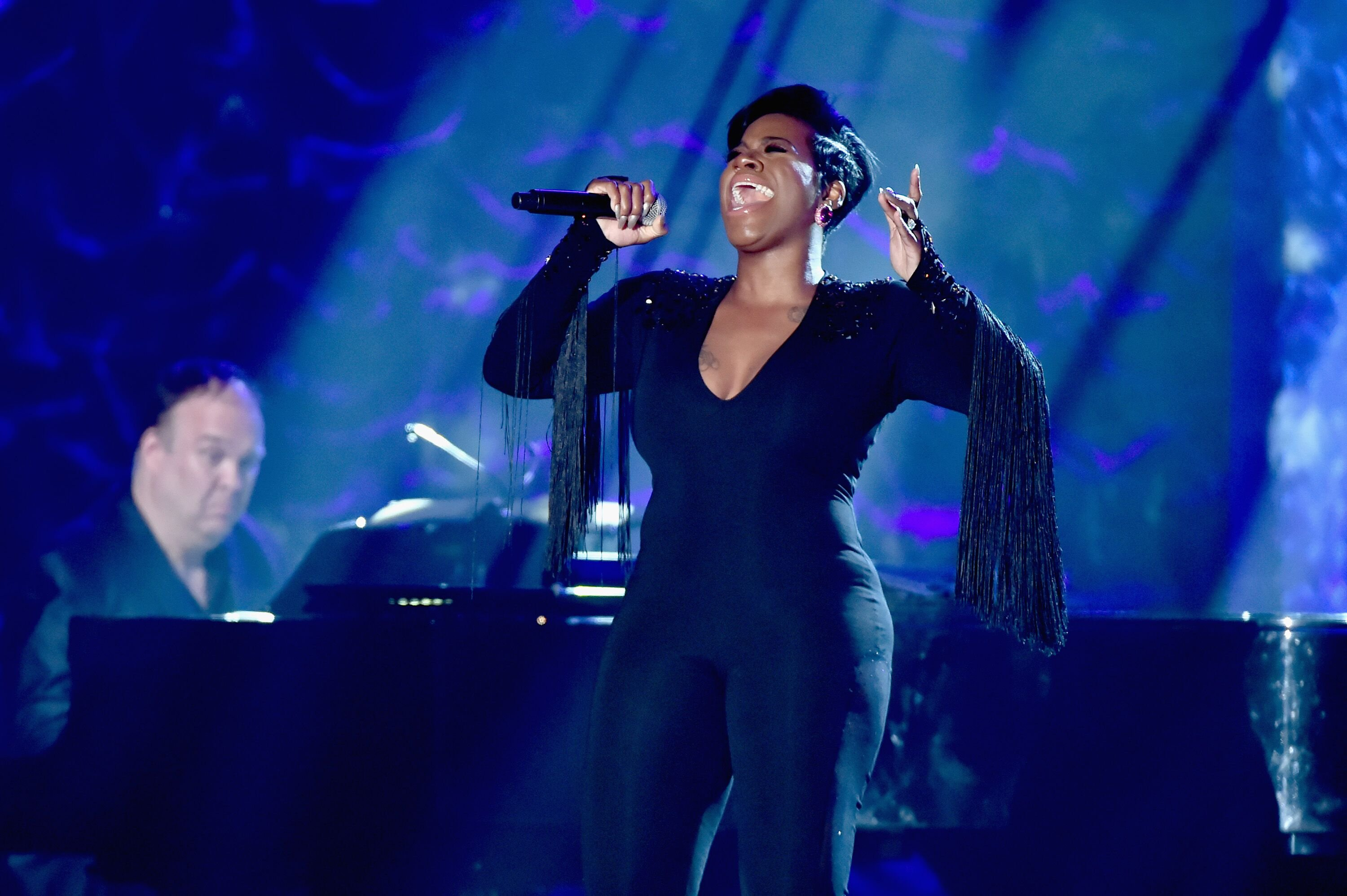 Fantasia performs onstage at the Songwriters Hall of Fame 49th Annual Induction and Awards Dinner in New York in 2018   Source: Getty Images