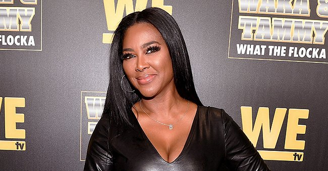 See Morning Pic of Kenya Moore's Daughter Posing with Mom's Dog & Flaunting Her Cute Afro Hair