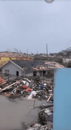The aftermath of Hurricane Dorian hitting the Bahamas as a category five, and leaving behind mass destruction   Photo: Twitter/WPLG Local 10 News