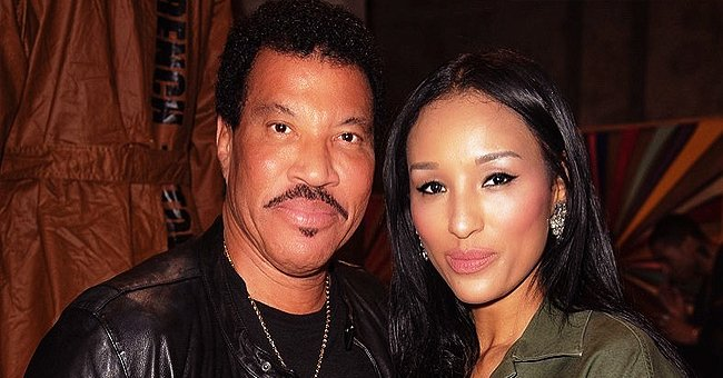Lionel Richie's Younger Girlfriend Lisa Parigi Flaunted Deep Cleavage in Black Dress for Night out with the Singer