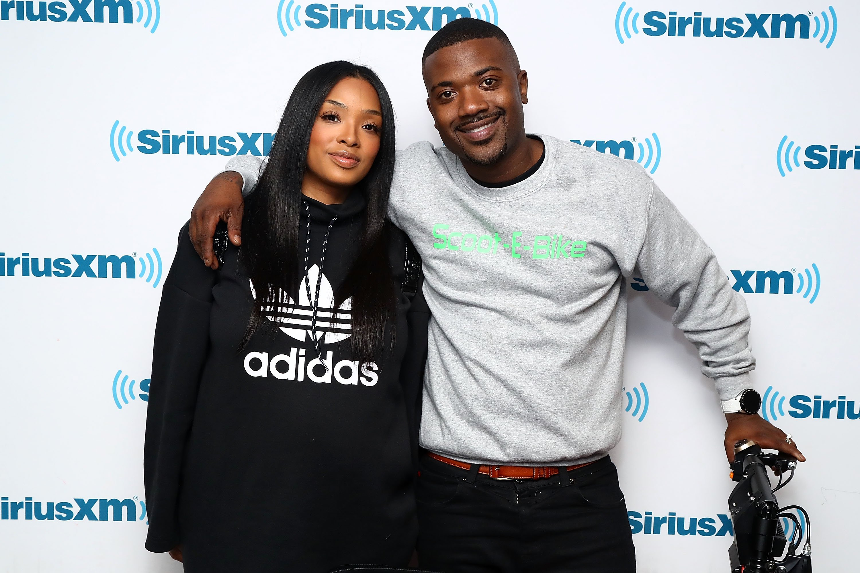 Princess Love and Ray J at SiriusXM's studio in March 2018. | Photo: Getty Images
