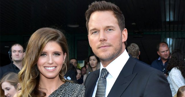 """Katherine Schwarzenegger and Chris Pratt atthe world premiere of""""Avengers: Endgame"""" at the Los Angeles Convention Center on April 22, 2019, in California 