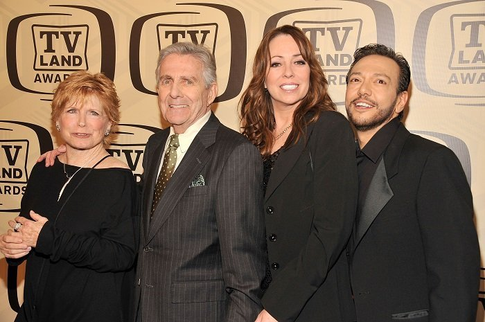 (L-R) Bonnie Franklin, Pat Harrington Jr, Mackenzie Phillips and Glenn Scarpelli l Picture: Getty Images