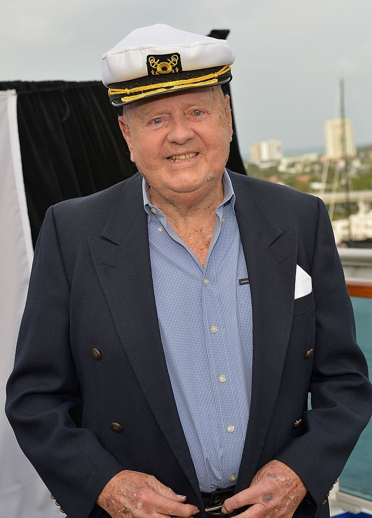 Dick Van Patten attends Love Boat Cast Christening Of Regal Princess Cruise Ship | Getty Images