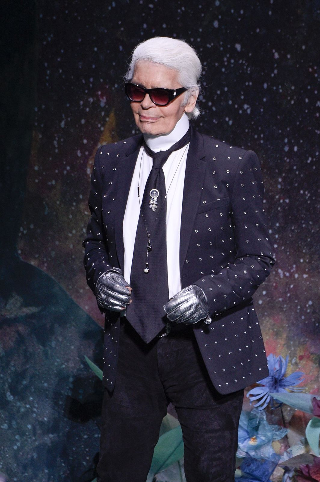 Karl Lagerfeld at the Fendi Haute Couture Fall/Winter 2017-2018 show as part of Haute Couture Paris Fashion Week on July 5, 2017 in France.   Photo: Getty Images