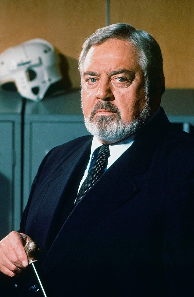 """Raymond Burr as 'Perry Mason' during an episode of the TV series, """"Perry Mason"""" that aired on April 19, 1989 