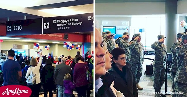 Passengers at Nashville airport stop to sing national anthem to honor fallen servicemen