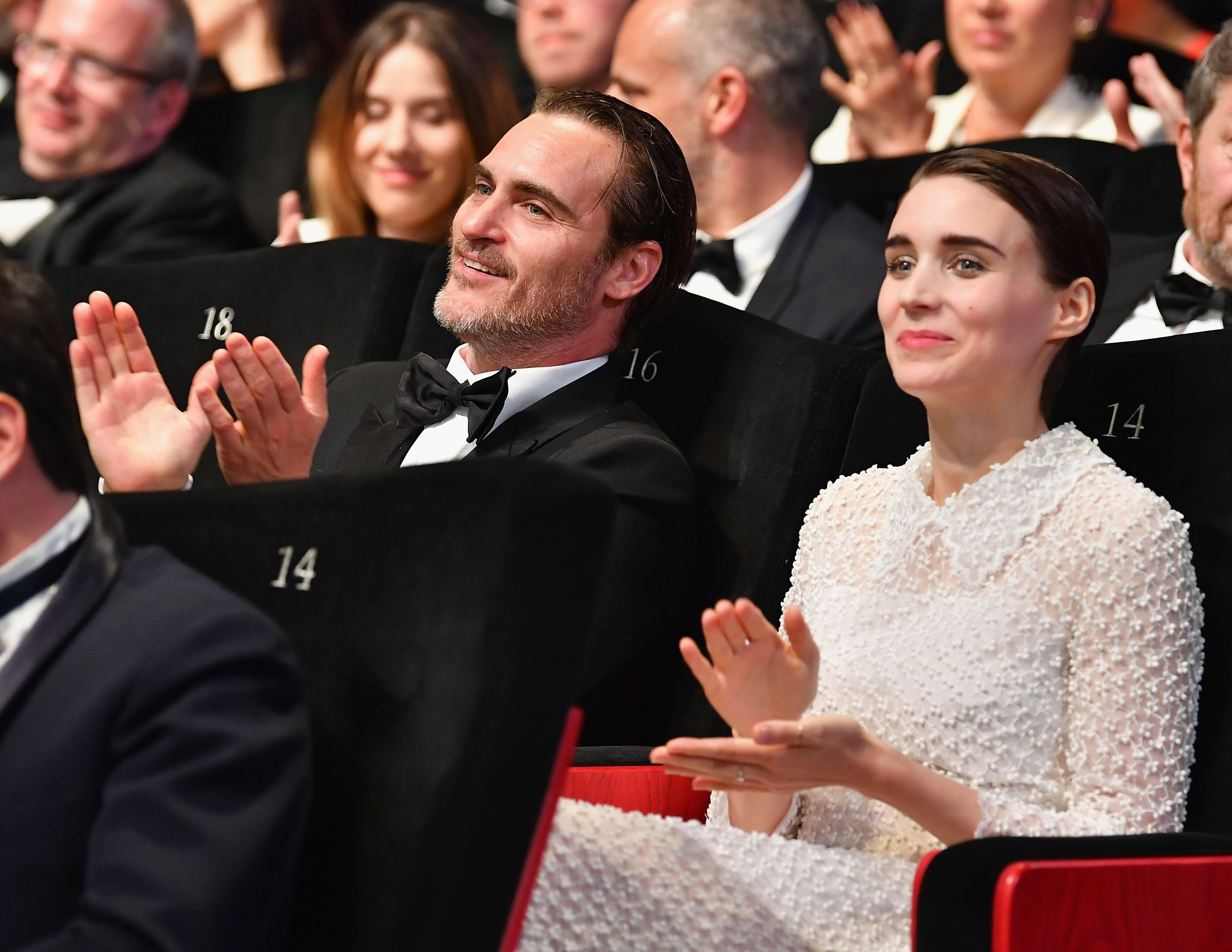 Joaquin Phoenix and Rooney Mara at the Closing Ceremony of the 70th annual Cannes Film Festival at Palais des Festivals on May 28, 2017 in Cannes, France. | Photo: Getty Images