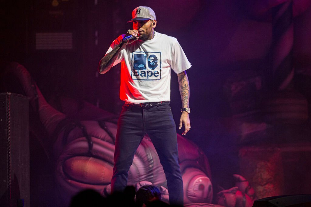 Recording artist Chris Brown performs on stage at Viejas Arena | Photo: Getty Images