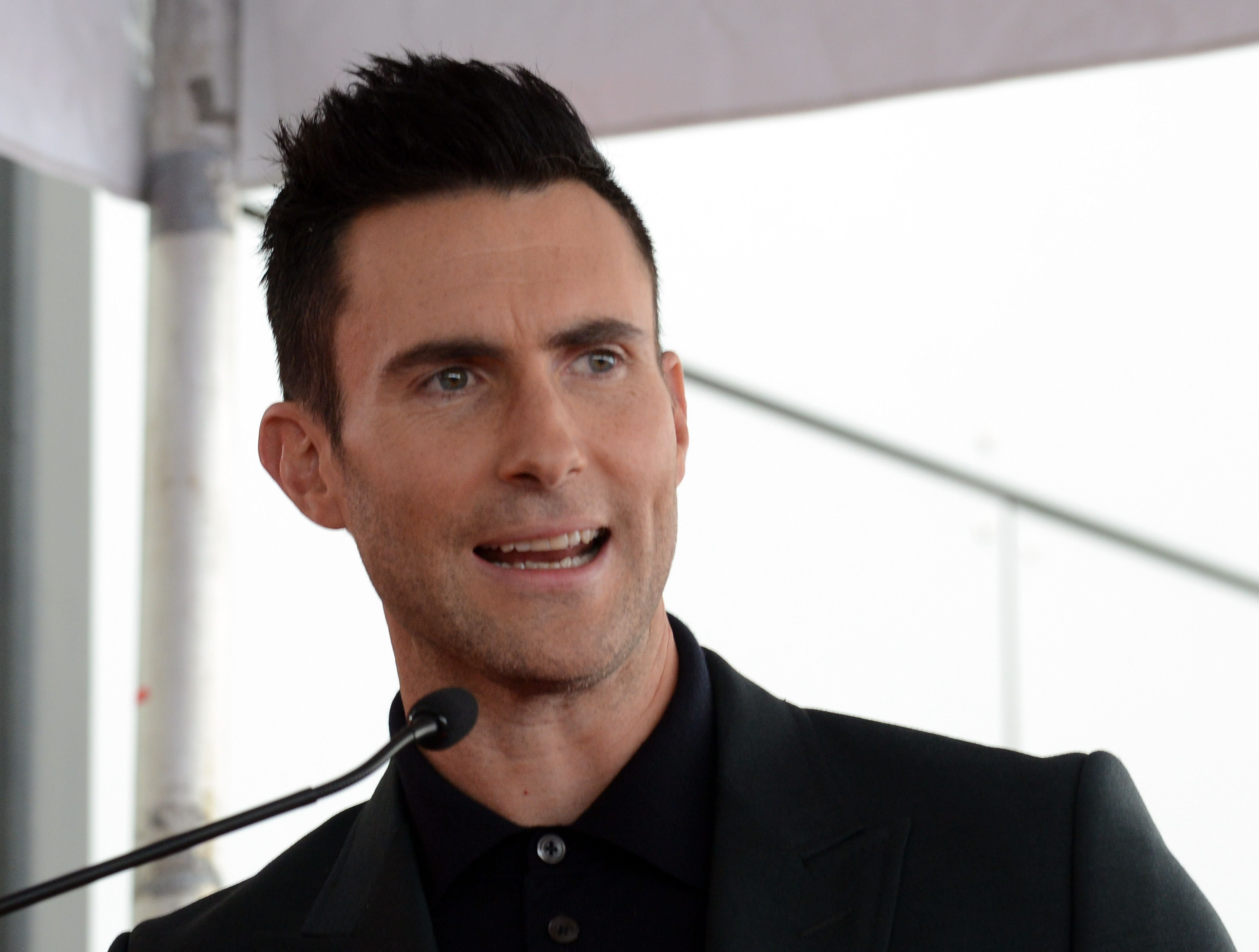 Adam Levine Honored With Star On The Hollywood Walk Of Fame on February 10, 2017 | Photo: Getty Images