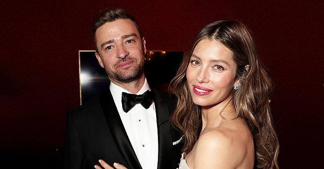 Justin Timberlake and Jessica Biel pictured at the 70th Annual Primetime Emmy Awards, 2018.   Photo: Getty Images