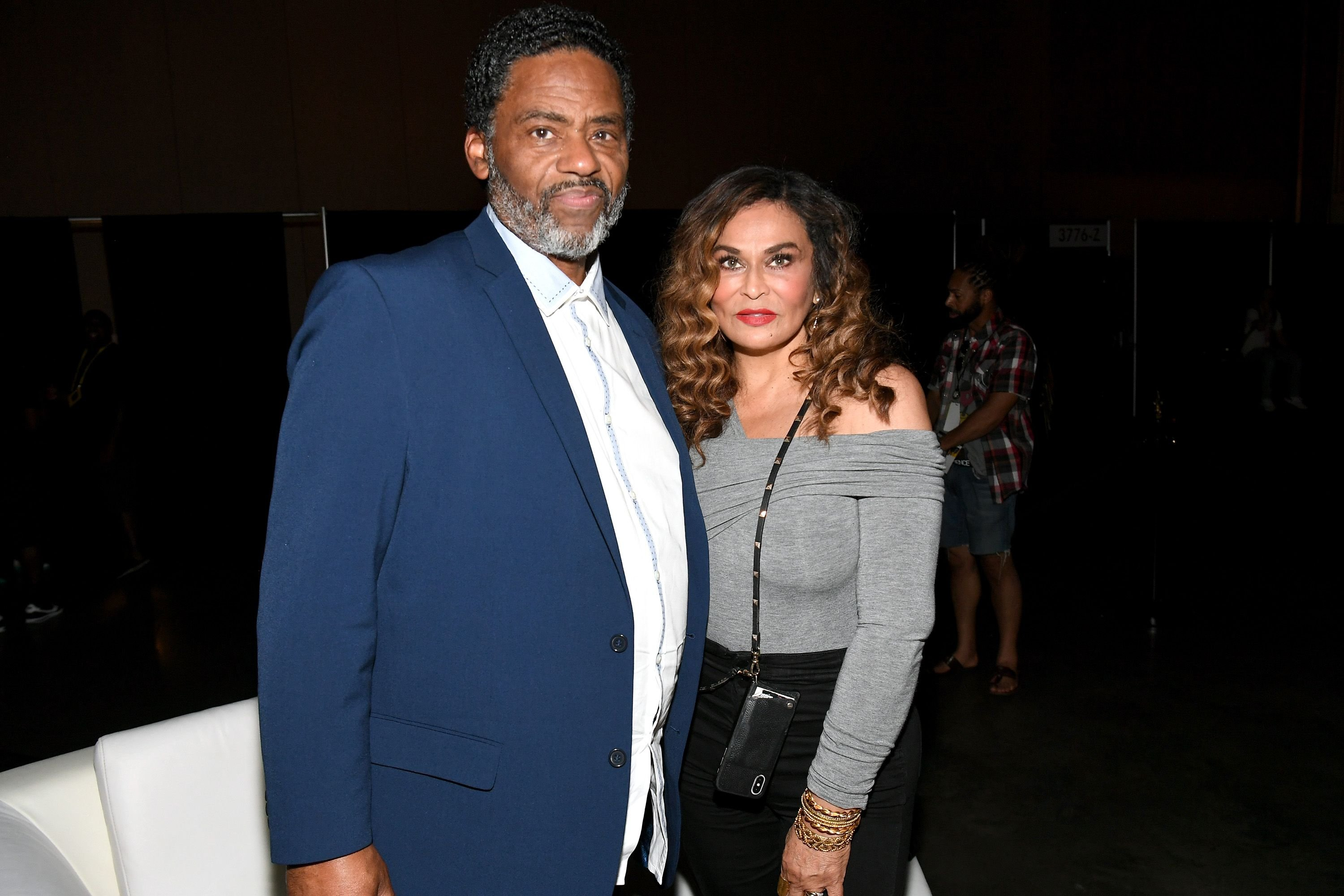 Richard Lawson and Tina Knowles-Lawson at the 2019 ESSENCE Festival in 2019 in New Orleans | Source: Getty Images