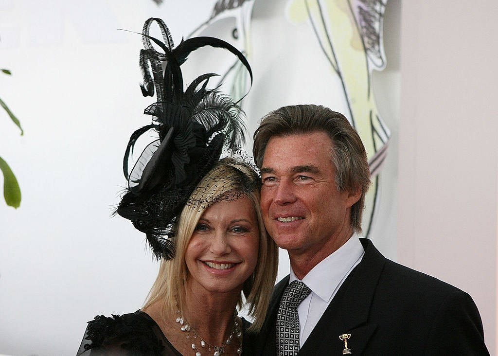 Olivia Newton-John and John Easterling at the Emirates Melbourne Cup Day on November 3, 2009 | Photo: GettyImages