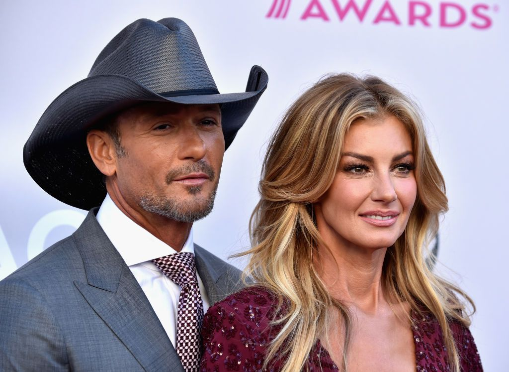 Tim McGraw and Faith Hill during the 52nd Academy Of Country Music Awards at Toshiba Plaza on April 2, 2017 in Las Vegas, Nevada. | Source: Getty Images