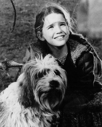 "Publicity photo of child actress Melissa Gilbert promoting her role on the television series ""Little House on the Prairie."" 