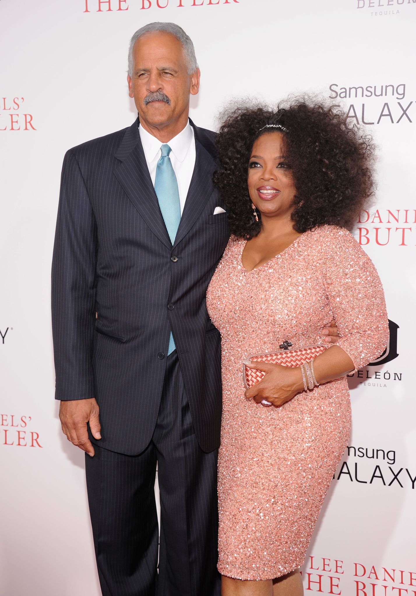 "Stedman Graham and Oprah Winfrey arrive on the red carpet for the premiere of  ""The Butler"" on August 5, 2013, New York 