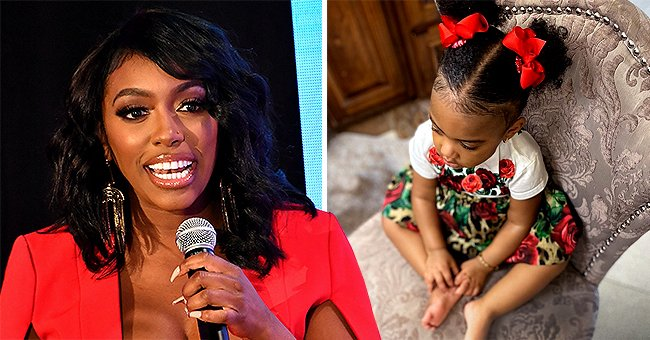 See RHOA Star Porsha Williams' Adorable Daughter Pilar Posing in a Cute Dress with Floral Print
