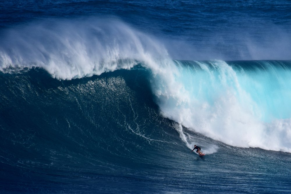 A photo of a Surfer who caught a huge wave   Photo: Shutterstock