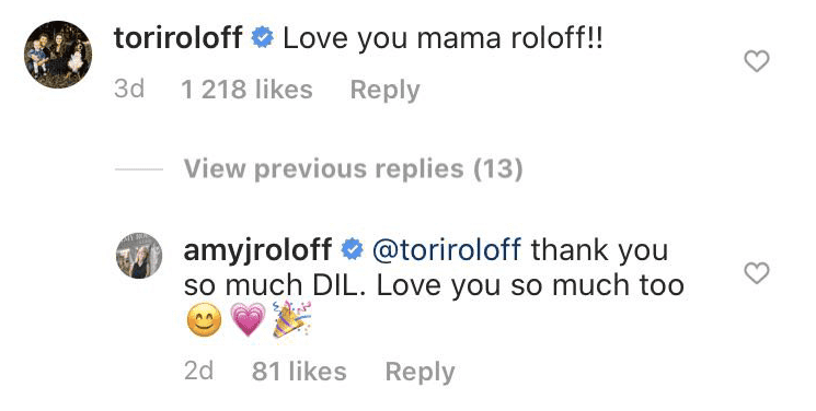 User toriroloff's comment on Amy Roloff's engagement | Photo: Instagram/ AmyJRoloff