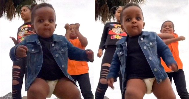 Watch This Adorable Diaper-Wearing Toddler Crash His Siblings' Dance Video in a Viral TikTok