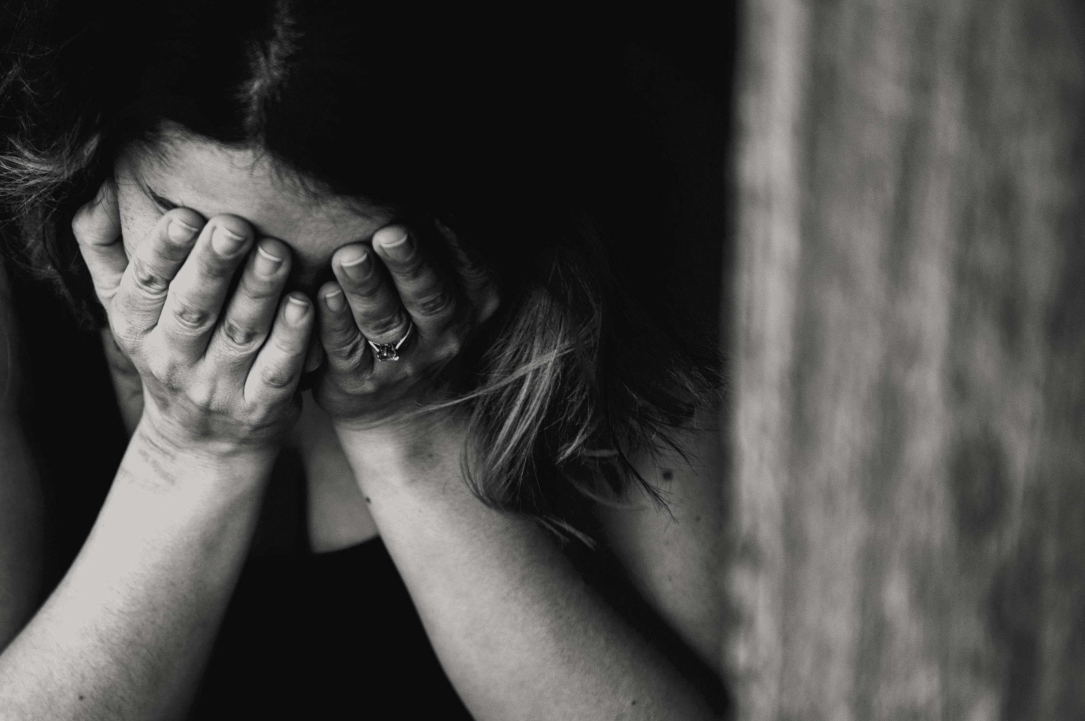 A crying woman. | Source: Pexels