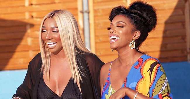 Porsha Williams & NeNe Leakes from RHOA Flash Wide Smiles While Hanging out in Greece