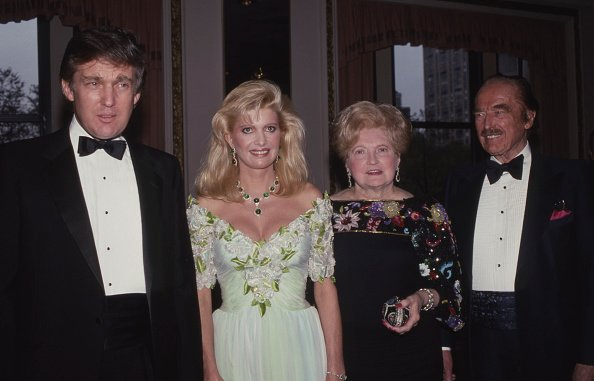 Donald Trump, Ivana Trump, Mary Trump and Fred Trump at The Plaza Hotel in New York City in 1987 | Photo: Getty Images