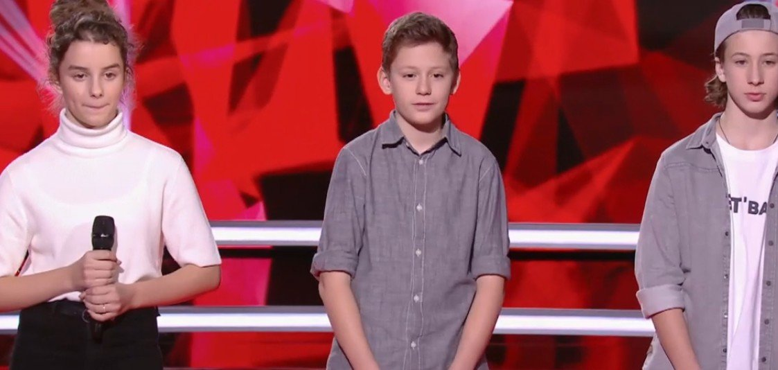 Joann, Alaïs et Esteban après leur performance. l Source : TF1 Replay