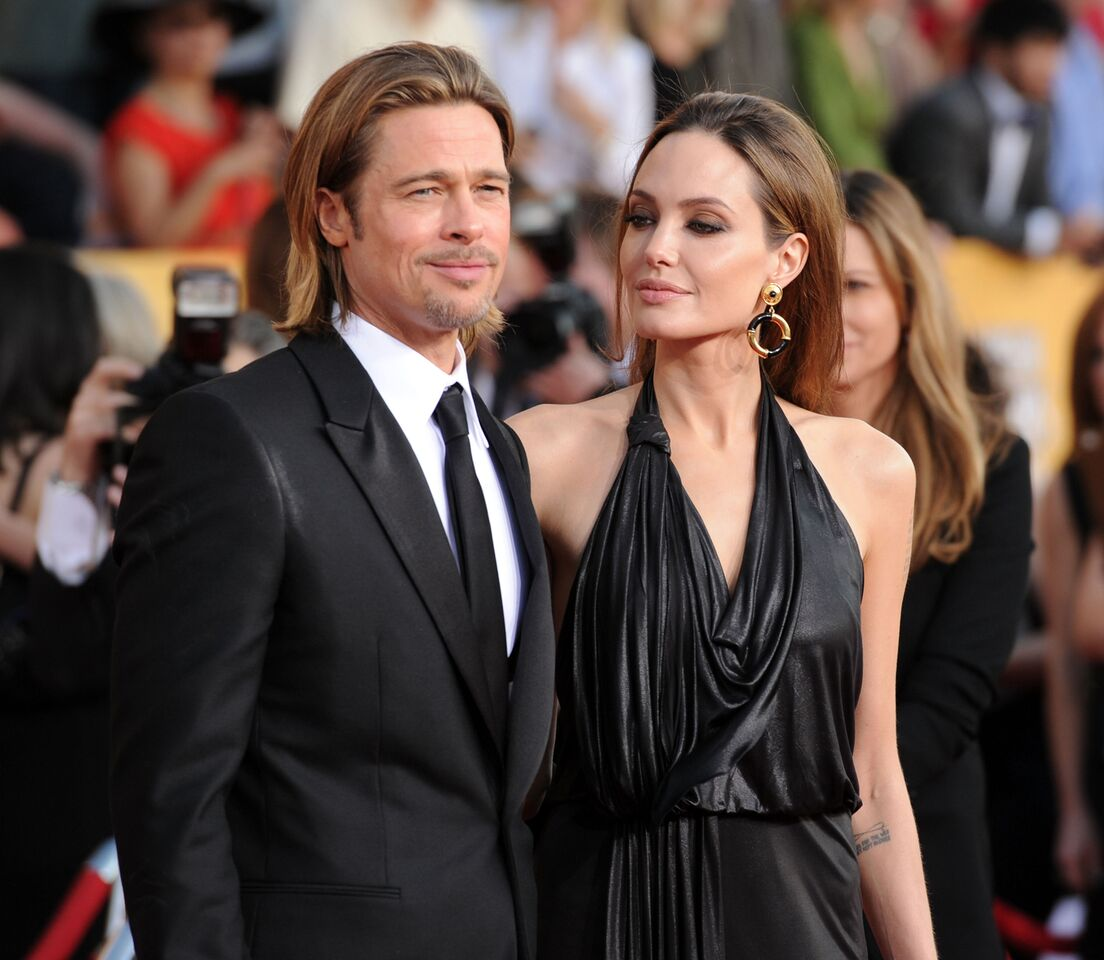 Brad Pitt and Angelina Jolie during a black tie event. | Source: Getty Images