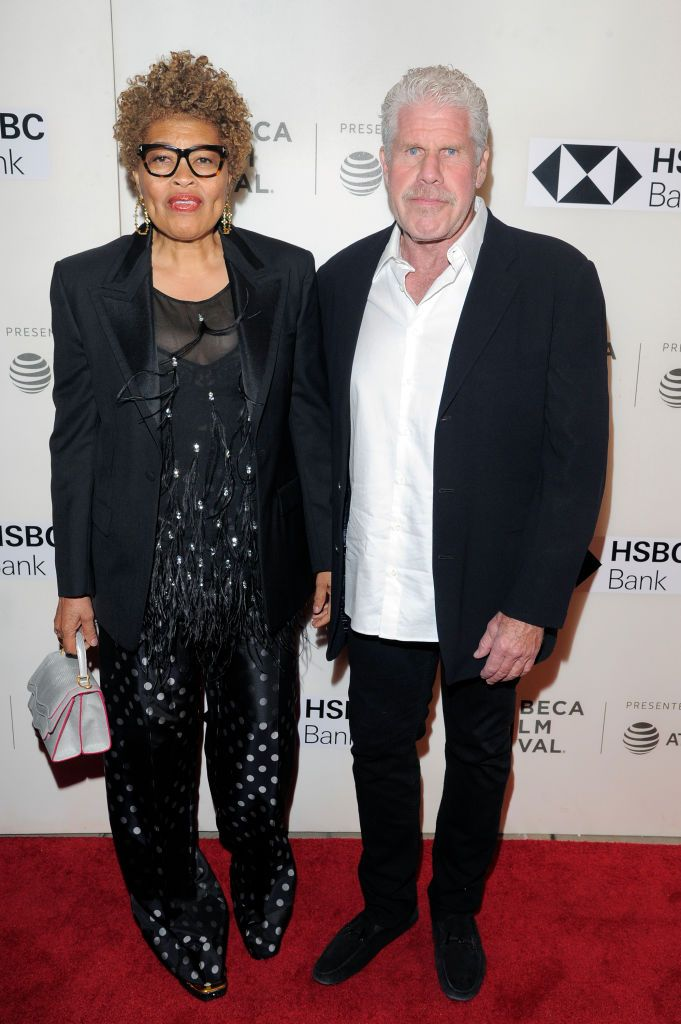 Opal Stone and Ron Perlman at premiere of Disobedience during 2018 Tribeca Film Festival at BMCC on April 24, 2018 | Photo: Getty Images