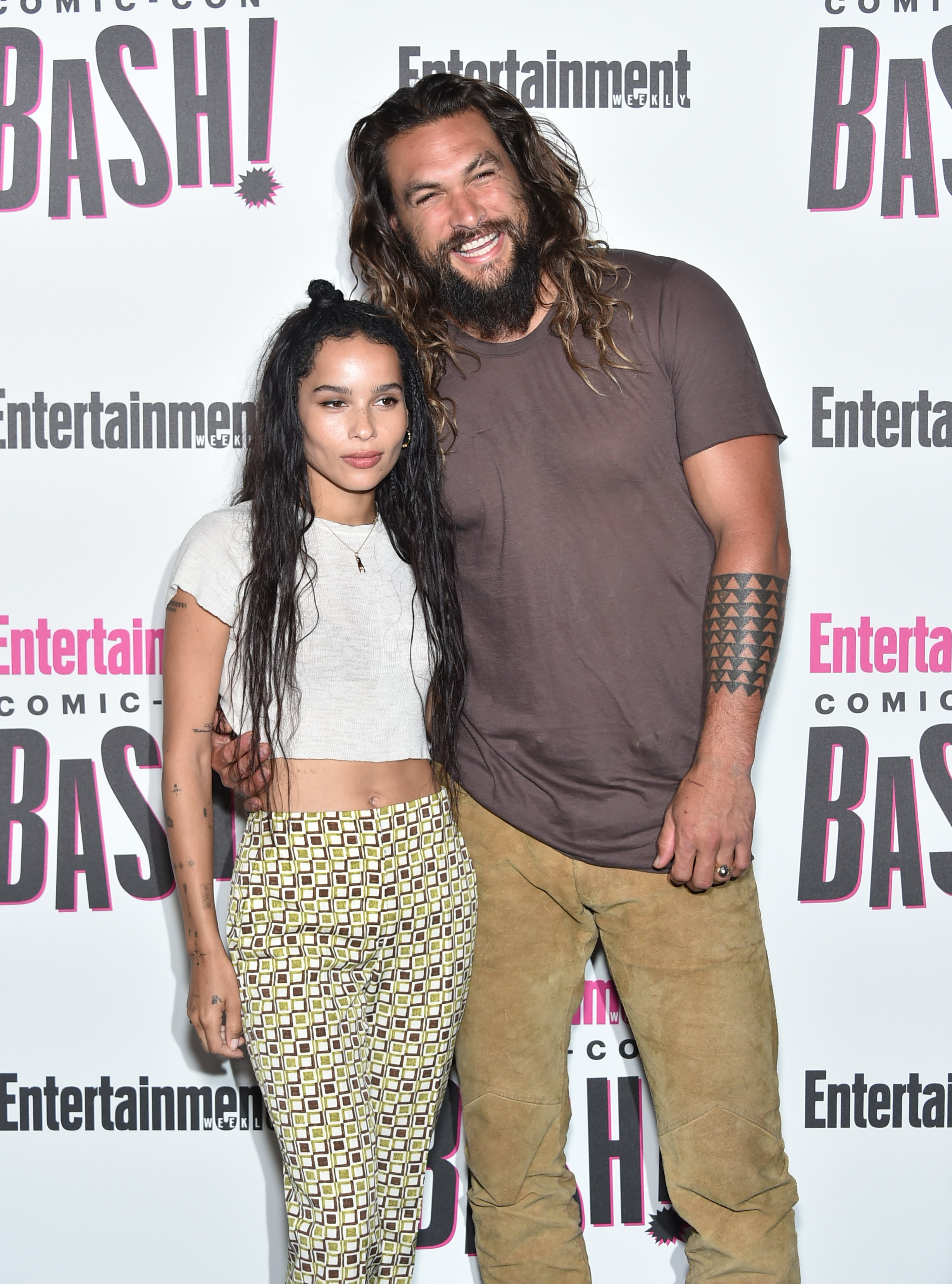 Zoe Kravitz and Jason Momoa attends Entertainment Weekly's Comic-Con Bash | Photo: Getty Images