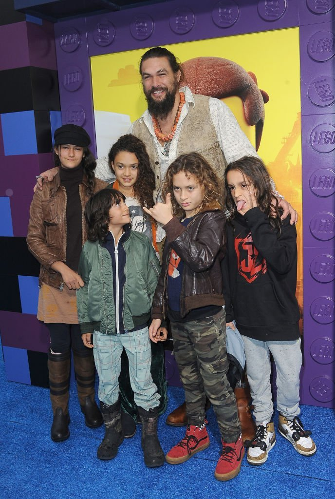 """Jason Momoa with children arrive for the Premiere Of Warner Bros. Pictures' """"The Lego Movie 2: The Second Part"""" 