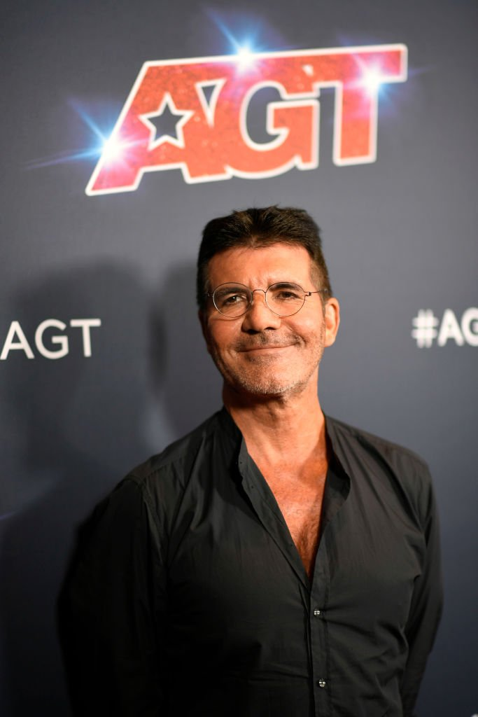 "Simon Cowell at the Live Show Red Carpet of ""America's Got Talent"" Season 14 in September 2019. 