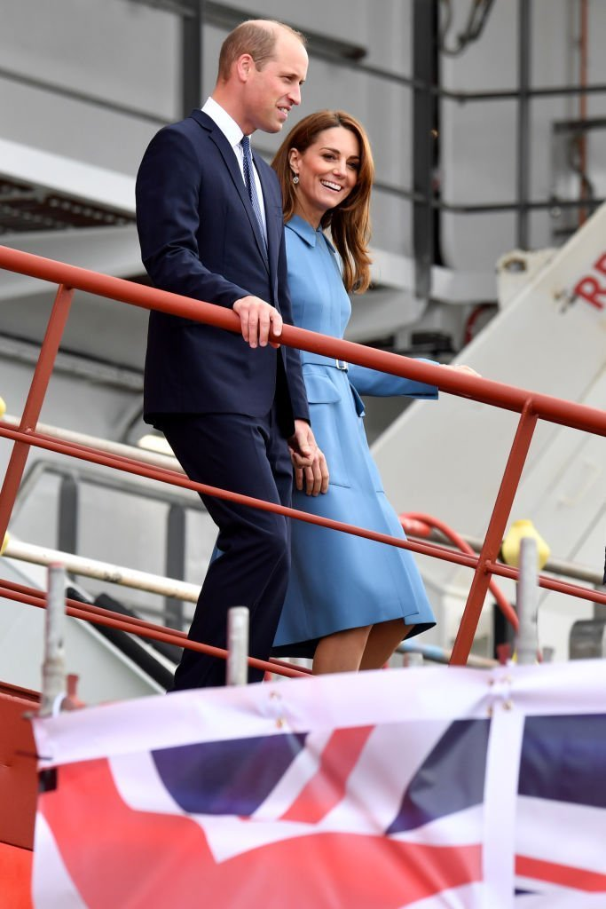 Prince William,and Kate Middleton attend the naming ceremony for The RSS Sir David Attenborough. | Source: Getty Images